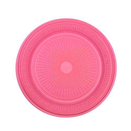 Prato Descartável Rosa 15 Cm 10 Unidades