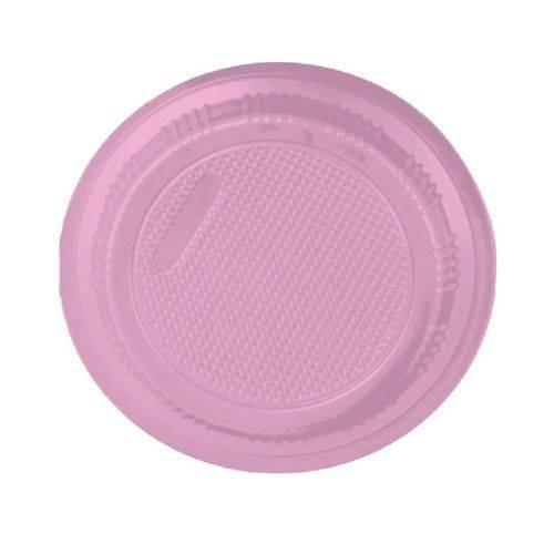 Prato Descartável Rosa 15cm 10 Unidades