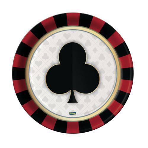 Prato Descartável Vegas 08 Unidades Festcolor