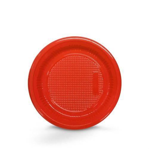 Prato Descartável Vermelho 15cm 10 Unidades