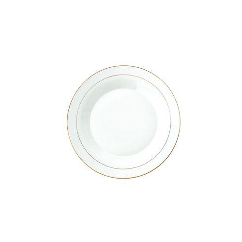 Prato Fundo em Porcelana DmBrasil Ouro 22cm 4220