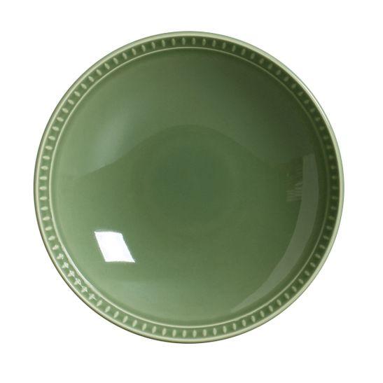 Prato Fundo Sevilha Cerâmica 6 Peças Verde Sálvia Porto Brasil