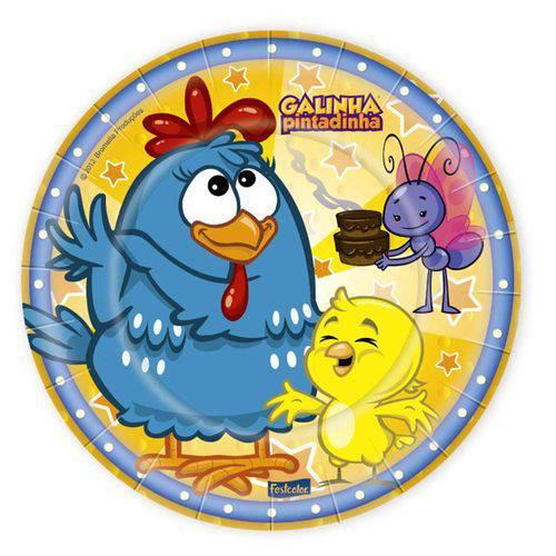 Prato Galinha Pintadinha Festcolor - 8 Unidades