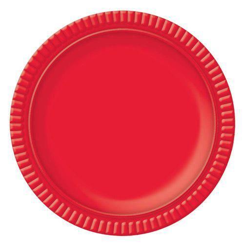 Prato No4 Vermelho 25 Cm - Ultrafest