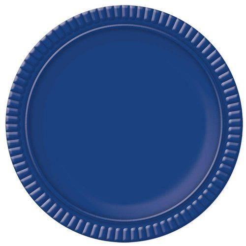 Prato No6 Azul Escuro 32cm - Ultrafest