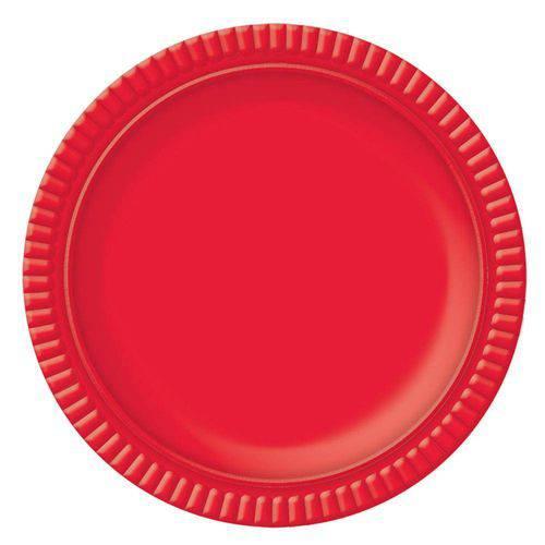 Prato No6 Vermelho 32cm - Ultrafest