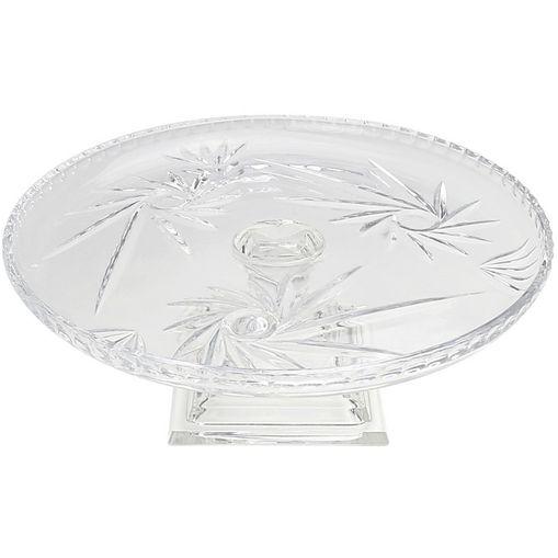 Prato para Bolo de Cristal com Pé Prima 3680 Lyor