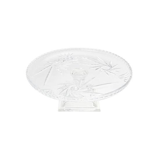 Prato para Bolo Prima com Pé em Cristal 30,5X12 Cm