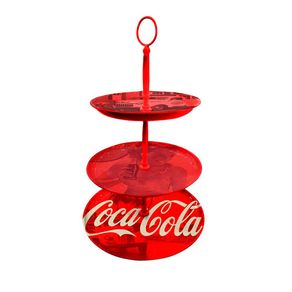 Prato para Doces Coca-Cola Vintage Vermelho