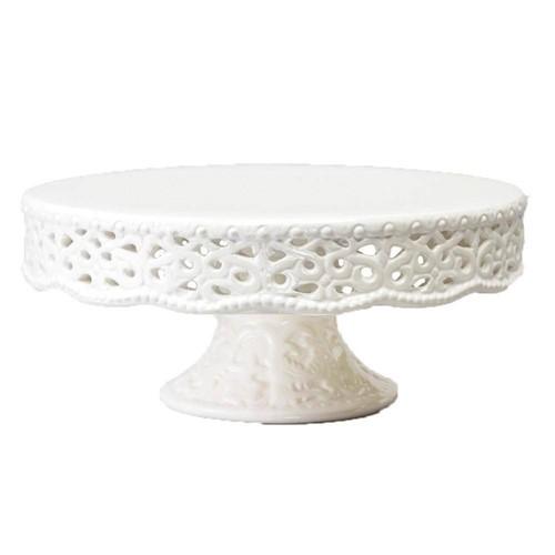 Prato para Doces Rendado Bon Gourmet Porcelana Ø 20cm