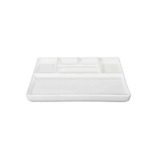 Prato para Petiscos 25,5x25,5x2cm Branco Asa