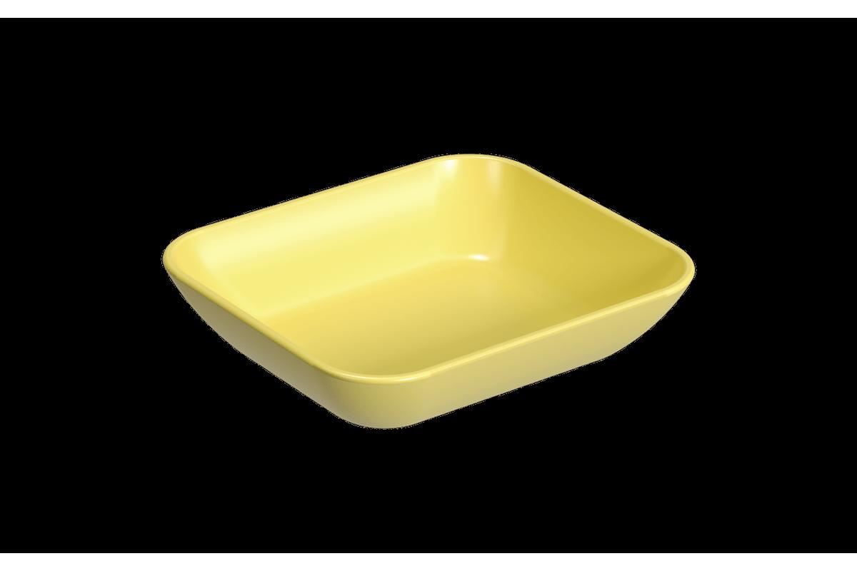 Prato Petisqueira Pequena Essential 10,2 X 9,2 X 2,4 Cm Amarelo Coza