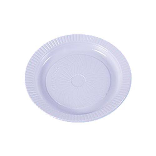 Prato Plástico 15cm Cristalsul Branco - 10 Unidades 1019002