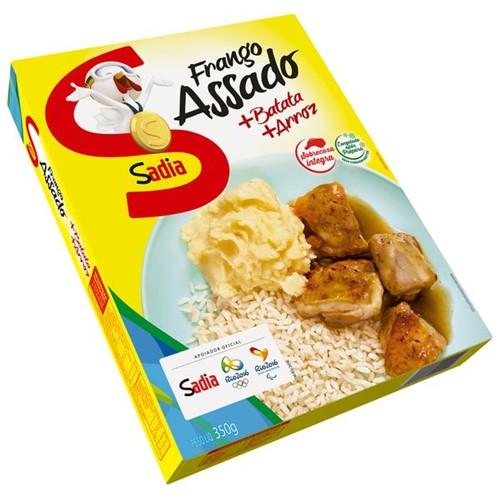 Prato Pronto Sadia 350g Carne Frango Assada Batata e Arroz