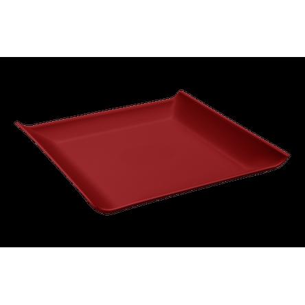 Prato Quadrado Casual Pequeno 16 X 16 X 2,5 Cm Vermelho Bold Coza