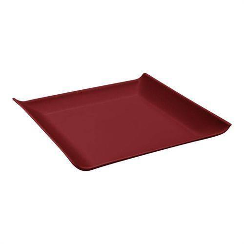 Prato Quadrado Casual Vermelho Bold 20,6cm Coza