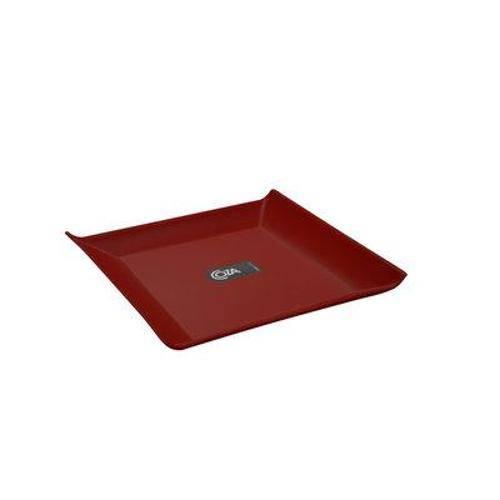 Prato Quadrado Pequeno Vermelho