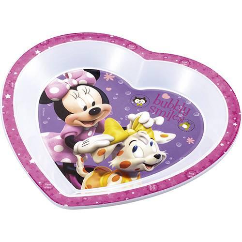 Prato Raso Coração para Micro-Ondas Minnie Multikids Baby