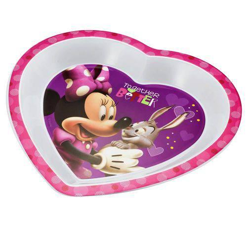 Prato Raso Coração para Microondas Minnie Multikids Baby