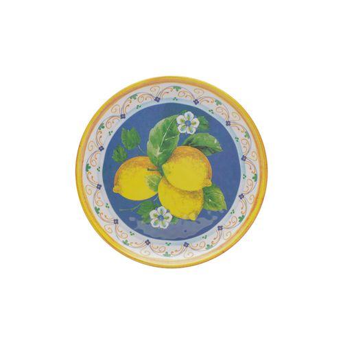 Prato Raso em Melamina Bon Gourmet Lemon 26,5cm