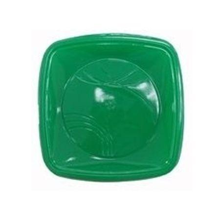 Prato Raso Quadrado 15cm Verde Escuro Prato Descartável Raso Quadrado 15cm Verde Escuro - 10 Unidades