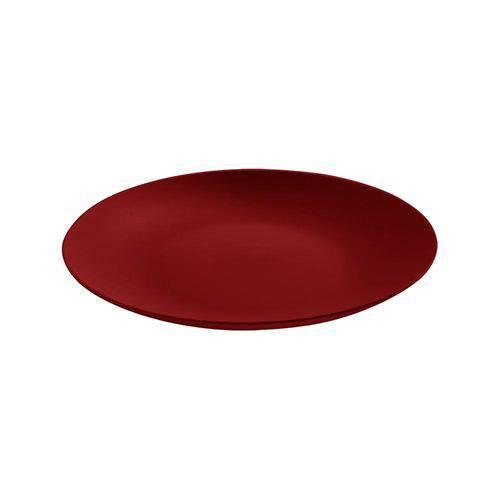 Prato Refeição 25 Cm Cozy Vermelho Bold - Coza