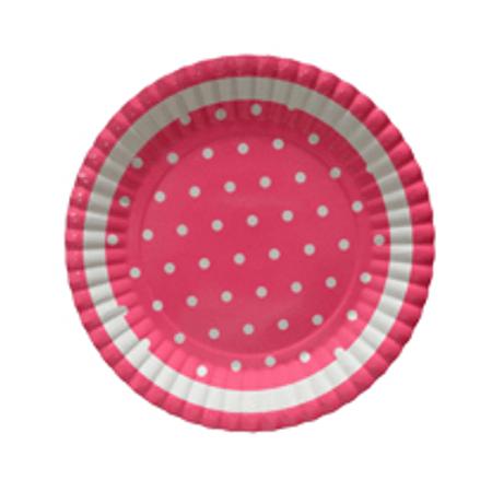 Prato Rosa Poá Branco - 10 Unidades