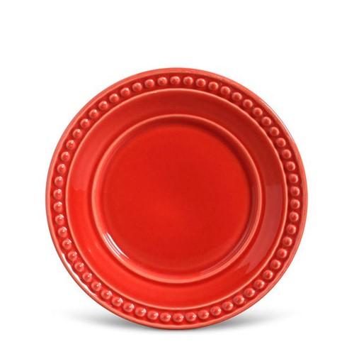 Prato Sobremesa Porto Brasil Atenas Vermelho Cerâmica 20CM - 31361