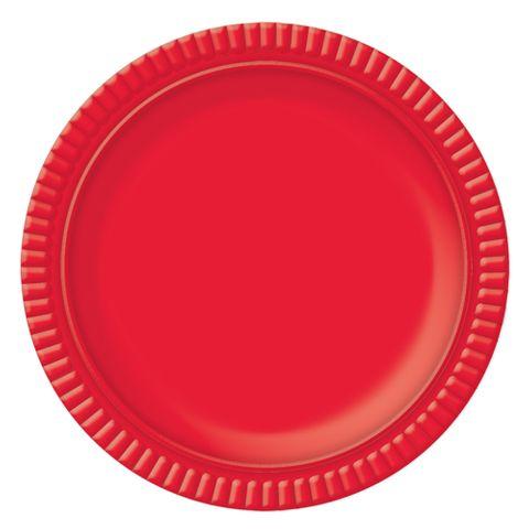 Prato Vermelho No4 25cm - Ultrafest