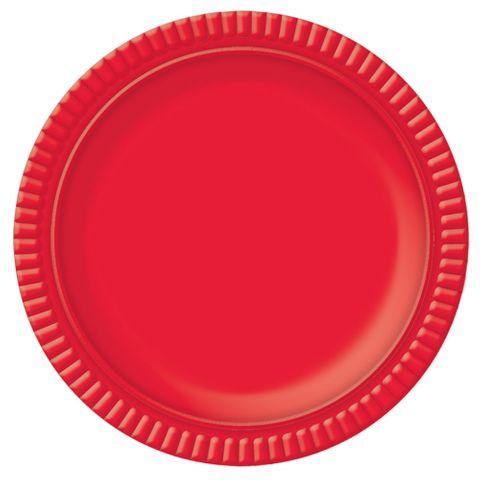 Prato Vermelho No5 28cm - Ultrafest