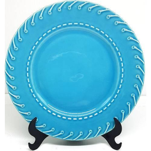 Pratos Rasos Porto Brasil Cordonê Azul Poppy 12 Unidades