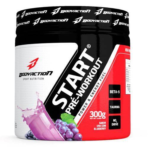 Pré Treino Start Pre-Workout - Body Action - 300g - Uva com Blueberry
