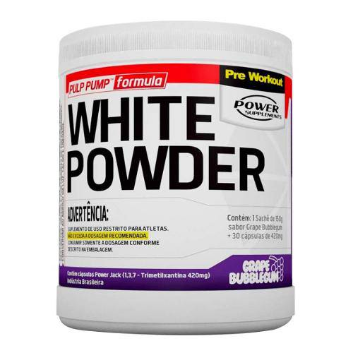 Pré Treino White Powder - Power Suplements - 150g + 30 Cápsulas