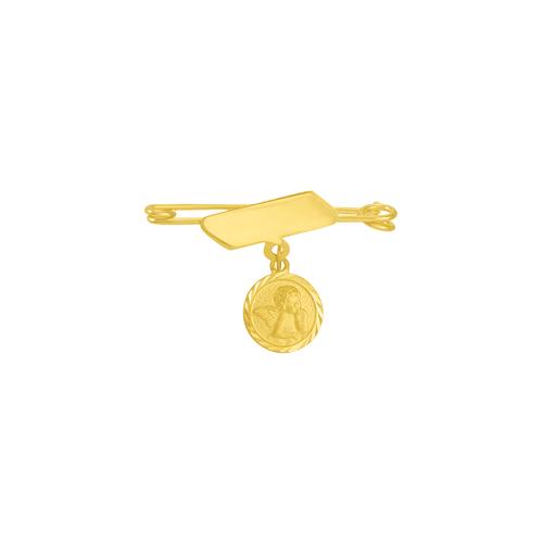 Pregadeira Infantil em Ouro 18K Anjo da Guarda - AU3167