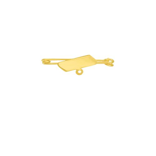 Pregadeira Infantil em Ouro 18K Placa - AU5267