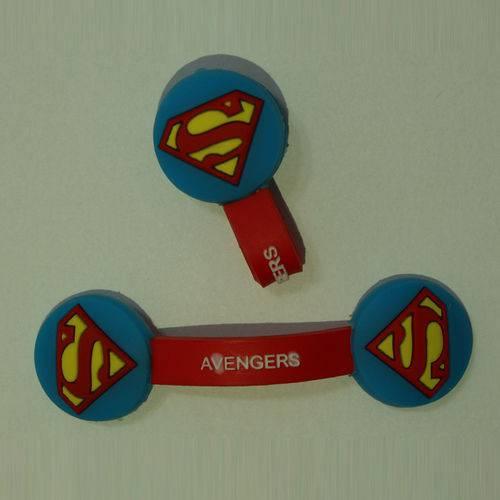 Prendedor de Cabos Superman e Organizador de Cabos USB, Fones de Ouvido Temático - Avengers