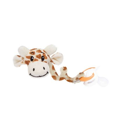 Prendedor de Chupeta Girafa New - Bege - Sonho de Luz