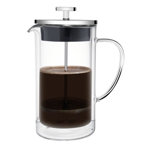 Prensa Francesa Tramontina para Café a em Vidro e Aço Inox 10 Cm 950 Ml Inox