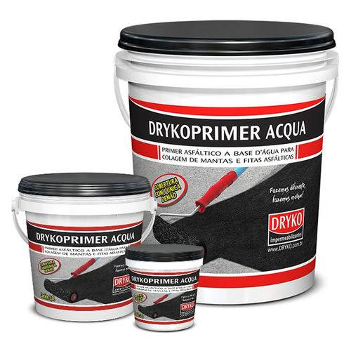 Primer Acqua Dryko Asfáltico Base D'Água para Manta Asfáltica - Galão 1,0 Litro