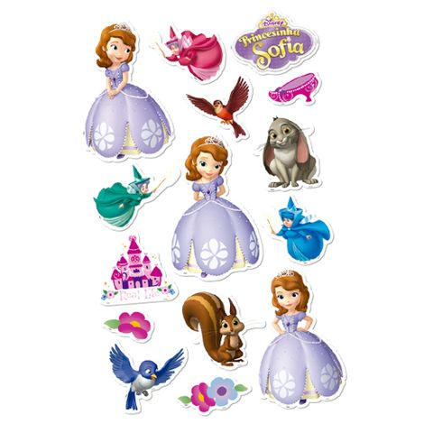 Princesa Sofia Baby Personagens Decorativos C/15 - Regina