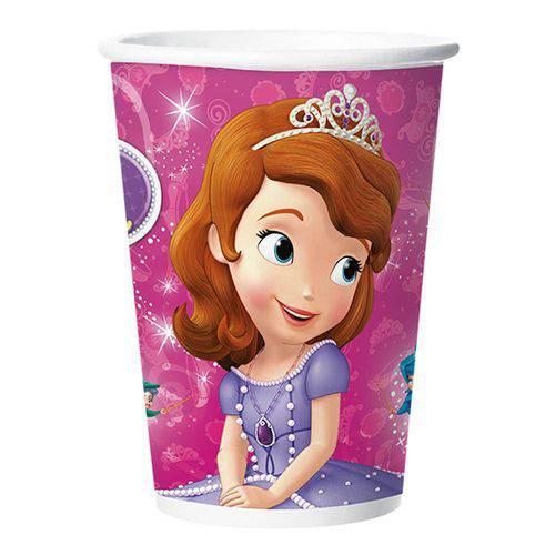 Princesa Sofia Copo de Papel C/8 - Regina