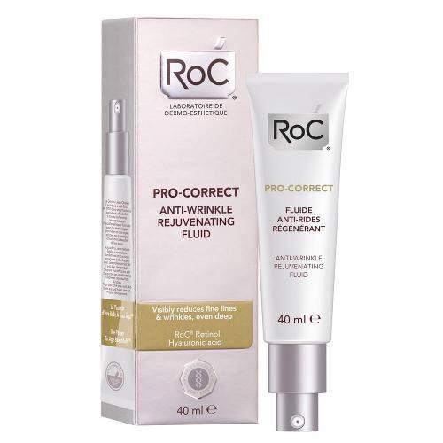 Pro-Correct Fluído Antirrugas Roc - Rejuvenescedor Facial 40ml