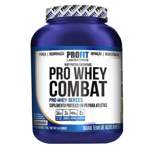 Pro Whey Combat 2kg - ProFit - Baunilha