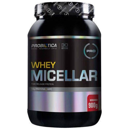Pro Whey Micellar - 900g - Probiótica - Morango