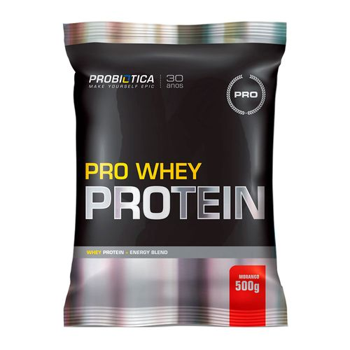 Pro Whey Protein Probiótica Morango 500g