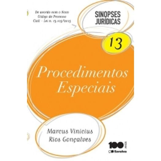 Procedimentos Especiais Sj 13 - Saraiva - 13 Ed