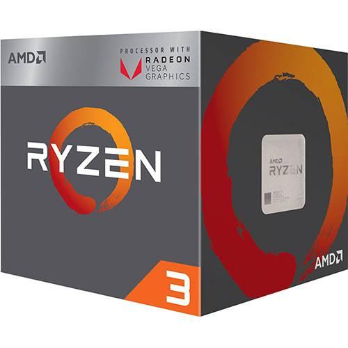 Processador AMD Ryzen 3 2200g 3.5ghz 6mb Am4 (YD2200C5FBBOX)