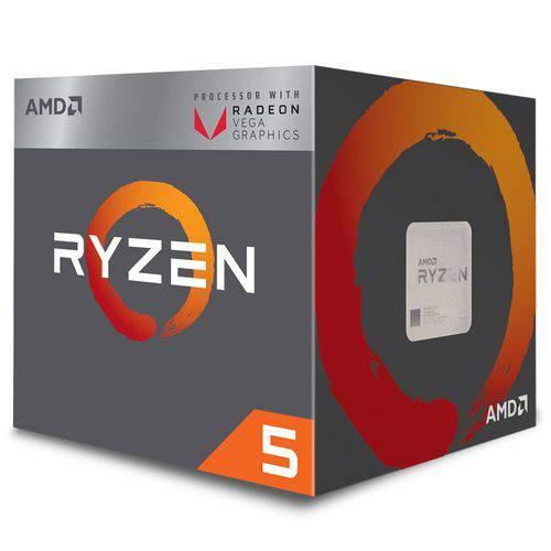 Processador Amd Ryzen R5-2400g 3.9ghz Am4 6mb Radeon Vega