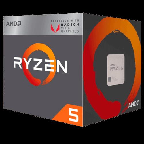 Processador AMD Ryzen 5 2400G AM4 3.9GHZ MAX BOOST 6MB Cache Radeon RX Vega YD2400C5FBBOX