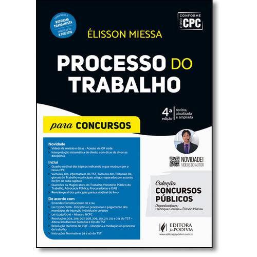 Processo do Trabalho - Coleção Concursos Públicos